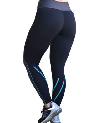 CAJUBRASIL 6234 Sexy Leggings Brazilian Line Gray Black