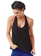 CAJUBRASIL 6519 Sexy Yoga Top - Workout Top-Backless Black