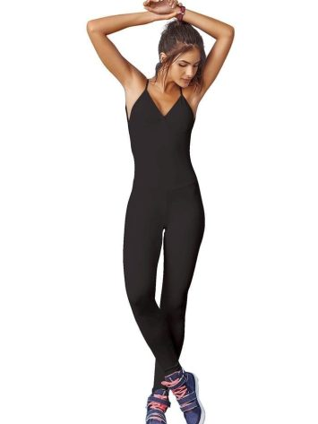 CAJUBRASIL 7574 Sexy Workout One-Piece Jumpsuit Strappy