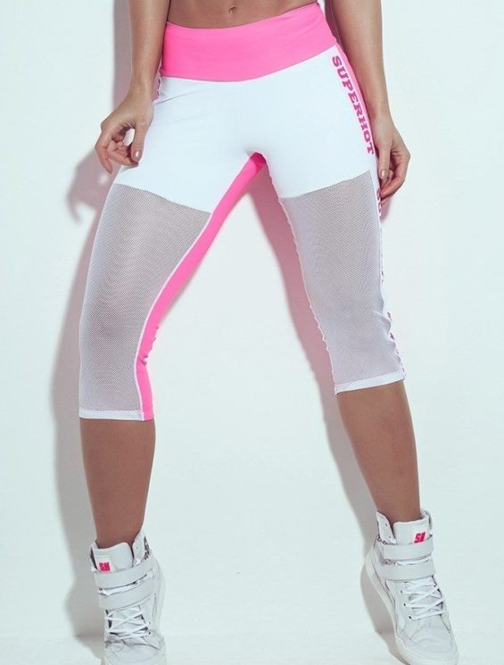 SUPERHOT CAL710 Sexy Leggings Pink with Mesh