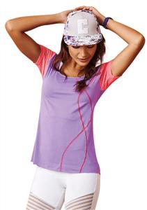 CAJUBRASIL 7535 Sexy Yoga Top – Workout T-Shirt-Laser Cut