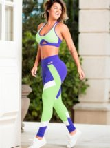 OXYFIT Leggings and Bra Top TURN-UP Purple Sexy Yoga Set