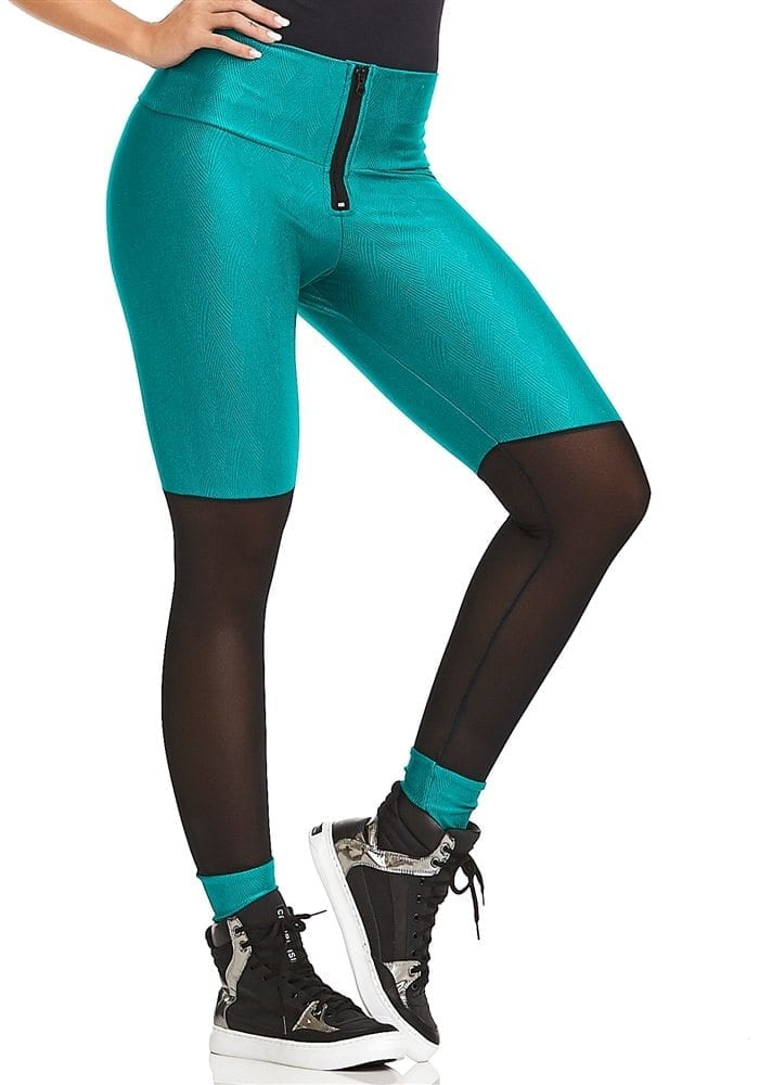 CAJUBRASIL Leggings 8122 Teal Sexy Leggings Brazilian