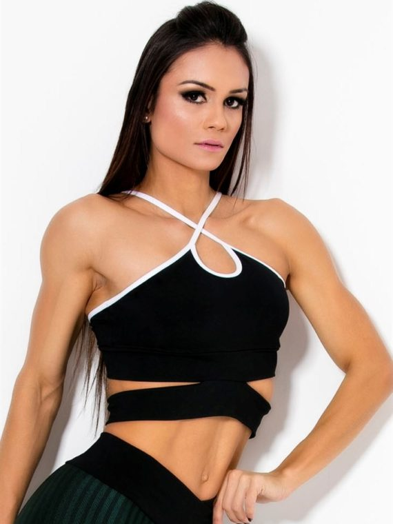CANOAN  Sports Bra TOP 00708 Black Sexy Workout Tops