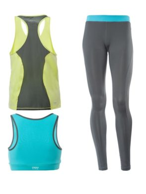 FREDDY WR.UP SHAPING EFFECT - LOW WAIST - SKINNY - D.I.W.O. TECHNICAL FABRIC - 3 PIECE SET: LEGGINGS + SPORTS BRA + TANK TOP