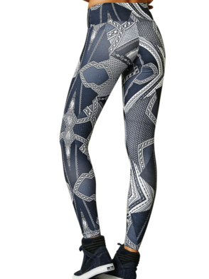 CAJUBRASIL 7904 Sexy Leggings Brazilian Abstract Print