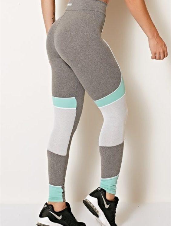 COLCCI FITNESS Leggings Sexy Mesh Leggings Jersey Mint