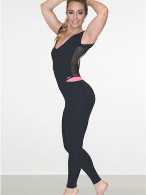 CAJUBRASIL 7577 Sexy Workout  Romper Jumpsuit Impact Black