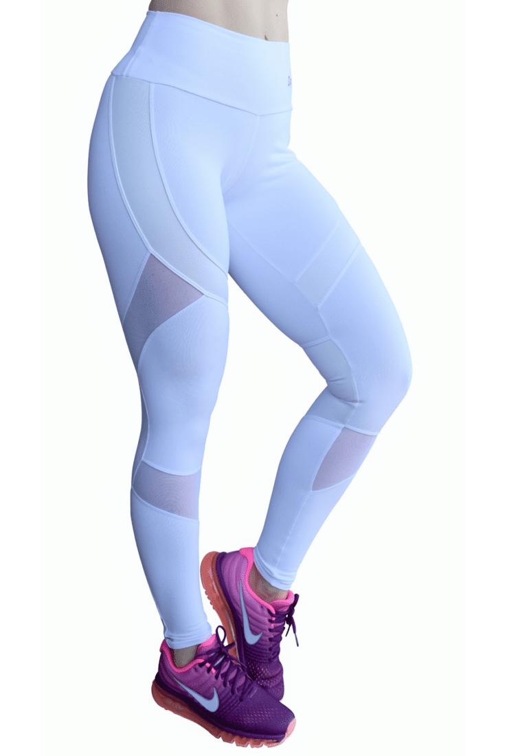 fcbf8ef171d53 OXYFIT Leggings 14441 Soft WH- Sexy Workout Leggings Cutout Mesh Panels