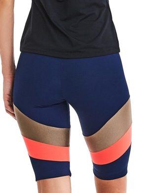 CAJUBRASIL Shorts 9012 Navy Gold Sexy Cycle Shorts Brazilian