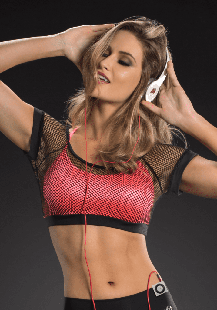 OXYFIT Bra Top Wire 27085 Mesh Coral- Sexy Sports Bras