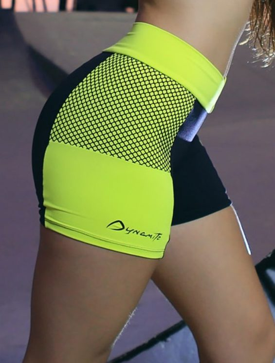 DYNAMITE Shorts SH979 Fishnet Black Neon-Sexy Shorts