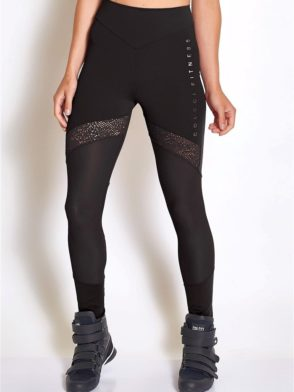 COLCCI FITNESS Leggings 25700231 Sexy Mesh Design Black