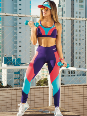 OXYFIT Leggings and Bra Top SPEEDEWAY- Sexy Workout Yoga Set