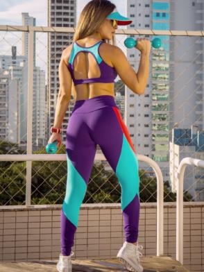 OXYFIT Leggings and Bra Top SPEEDEWAY- Sexy Workout Yoga Set