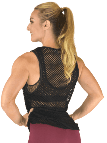 COLCCI FITNESS Net Top 385700114 Cover-up Long Black