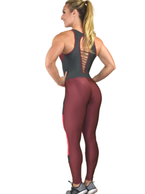 CAJUBRASIL Jumpsuit 9069 Perfect Sexy Workout Romper Tomato