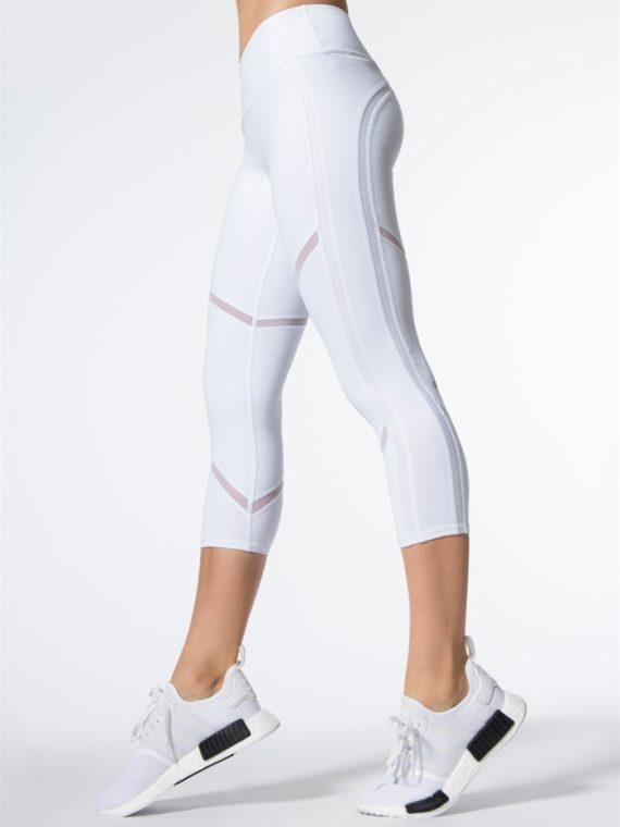 ALO Yoga Continuity Capri Sexy Leggings – white