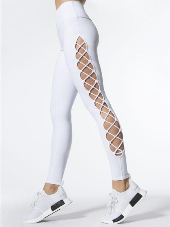 ALO Yoga Interlace Leggings Sexy Yoga Pants – white