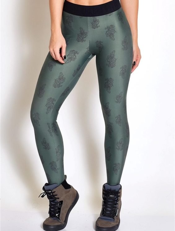 COLCCI FITNESS Leggings 25700215 Dragon Green Print