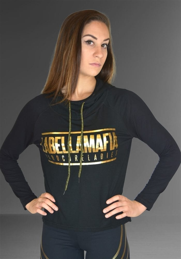 280e69702 LABELLAMAFIA Long Sleeve Hoody Top FBL11842 Hardcore Ladies