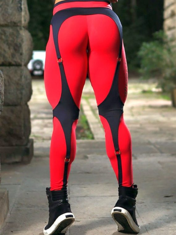 DYNAMITE Brazil Leggings L989 Black Red Corset Legging
