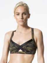 L'URV Sports Bra Lovers Army Bralette Top Sexy Workout Top