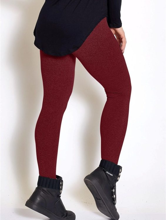 COLCCI FITNESS Leggings 25700242 Sexy Mesh Design Burgundy