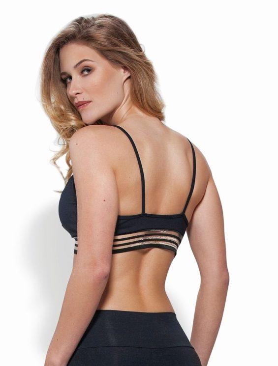 OXYFIT Bra Top 27109 Hollywood - Sexy Sports Bras- Black