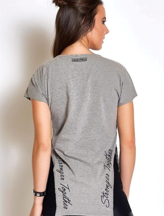 """COLCCI FITNESS T-Shirt 365700124 """"Stronger Together """"Gray"""