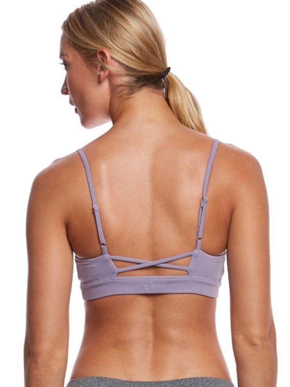 ALO Yoga Bra Interlace Bra -Sexy Workout Bra Tops Twilight
