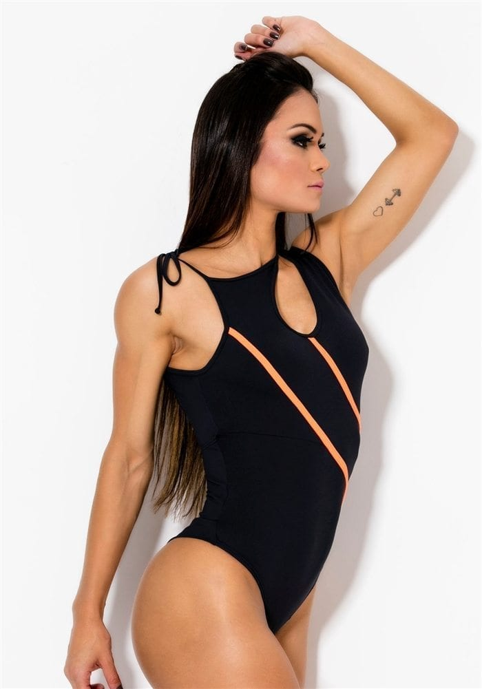 CANOAN Bodysuit 17001 Black Sexy Workout Body Wear