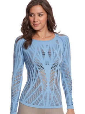 ALO Yoga Wanderer Long Sleeve Top -Sexy Yoga Tops Saltwater Heather