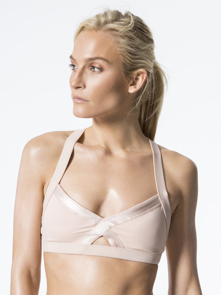 L'URV Sports Bra Fever Pitch Bralette Blush Top Sexy Workout Top