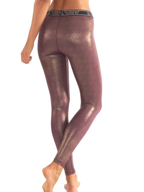 L'URV Leggings ALL THAT GLITTERS Legging Fig Gold - Sexy Workout Tights