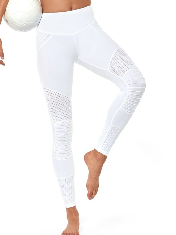 L'URV Leggings Race Ready Moto Leggings Sexy Workout Tights White