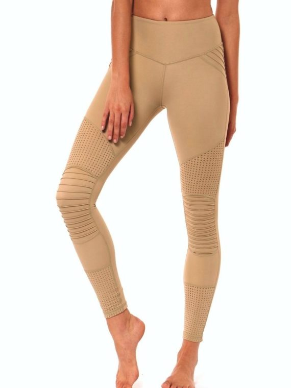 L'URV Leggings Race Ready Moto Leggings Sexy Workout Tights Lemon Gold