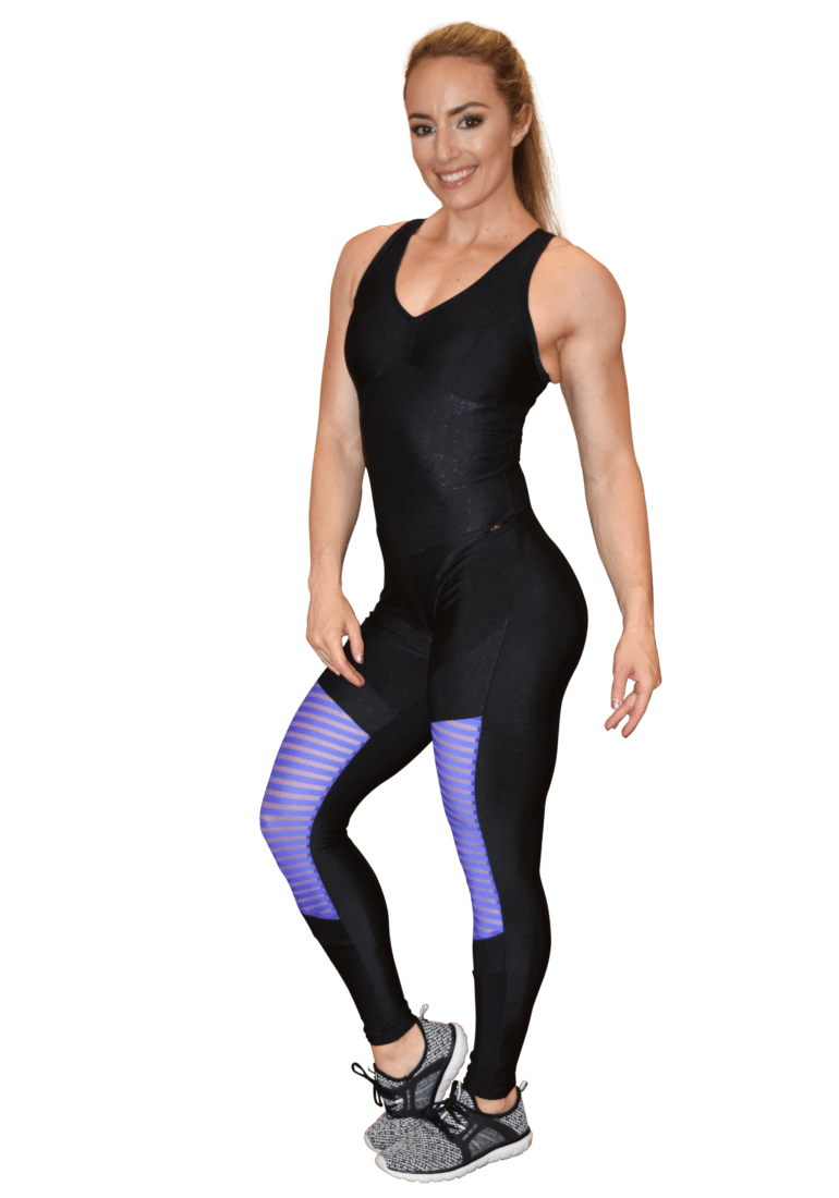 CAJUBRASIL Jumpsuit 9069 Perfect Sexy Workout  Romper Black