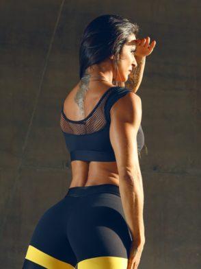 DYNAMITE Sports Bra Top T220 Black Shadow -Sexy Tops
