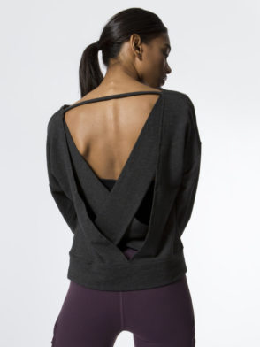 ALO Yoga Long Sleeve Top Uplift – Sexy Yoga Tops Charcoal Heather