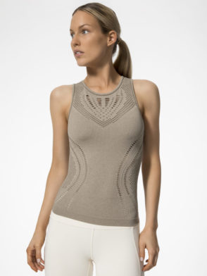 ALO Yoga Lark Fitted Sexy Tank -Sexy Yoga Tops Gravel