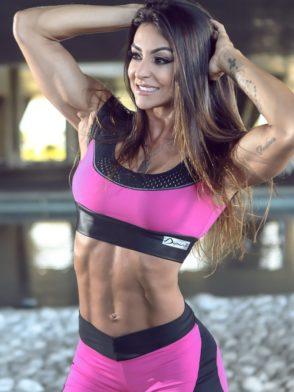 DYNAMITE BRAZIL Sports Bra Top T220 Fitness Fuchsia-Sexy Mesh Tops