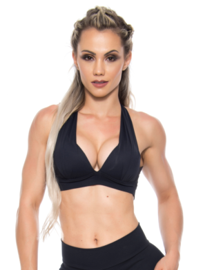 BOMBSHELL BRAZIL Sports Bra Bulge – Black -Sexy Workout Top