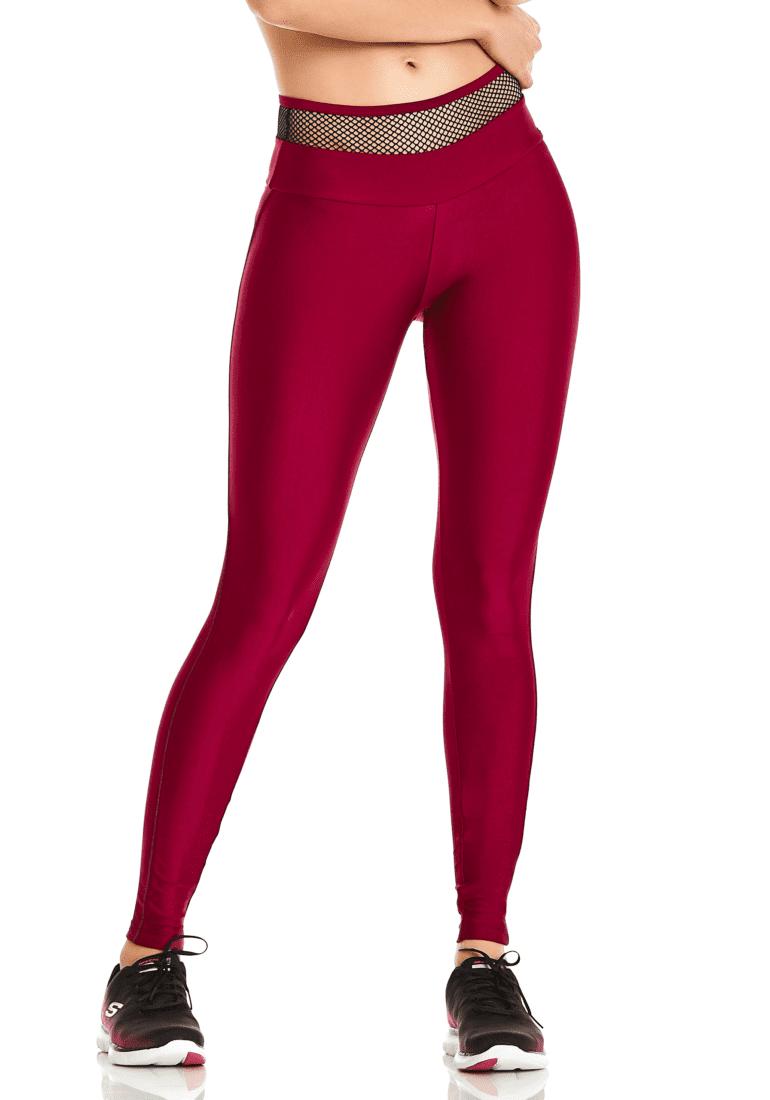 aedda588f7f9 CAJUBRASIL Leggings 9652 Bordo- Cute Workout Clothes-Brazilian