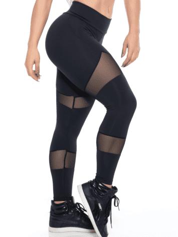BOMBSHELL BRAZIL Leggings SEXY BLACK MESH -Sexy Leggings
