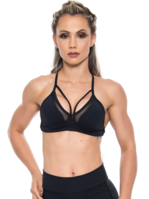 BOMBSHELL BRAZIL Sports Bra HOT GIRL – Black -Sexy Workout Top