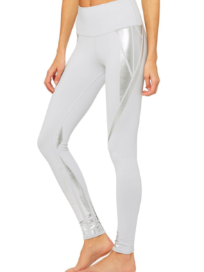 ALO Yoga Airbrush Legging High-Waist Yoga Leggings Sexy Leggings Silver Facet