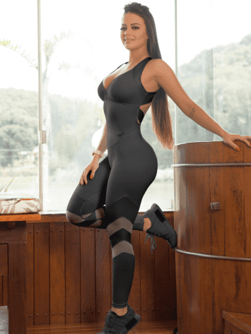 OXYFIT Jumpsuit Relax 15205 Black - Sexy Rompers, Cute Workout 1-Piece