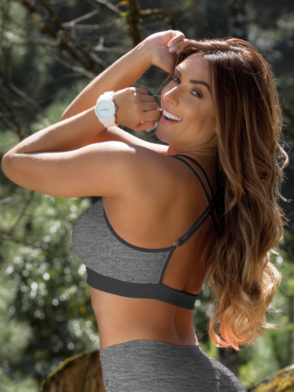 2404fbe51f ... OXYFIT Bra Top Amarilis 27116 Heather Mesh- Sexy Workout Bra - Cute  Yoga Top
