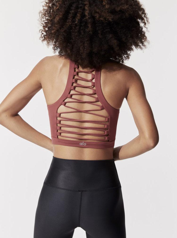 ALO Yoga Movement Bra -Sexy Workout Bra Tops Earth